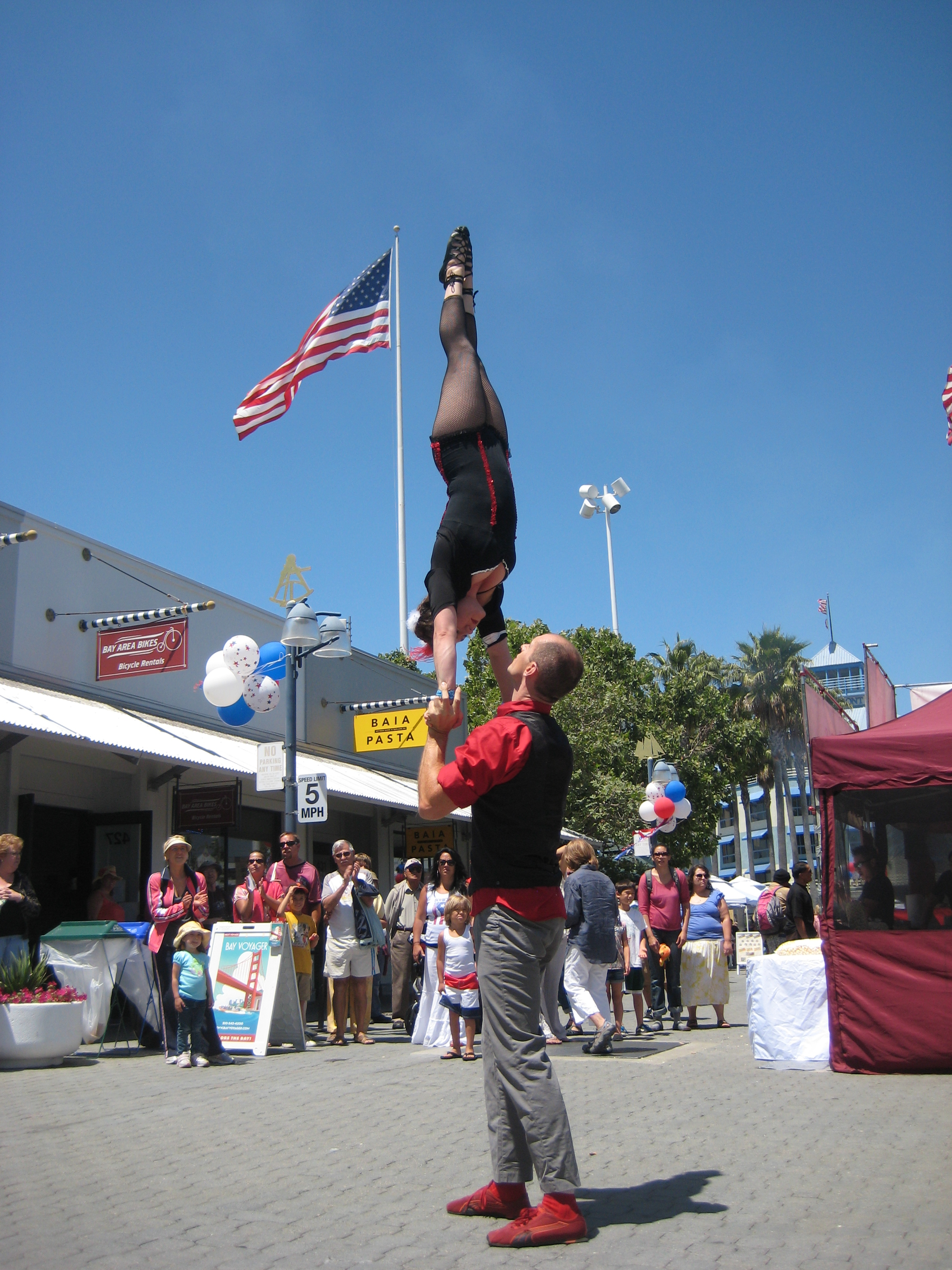 Acrobats at Fourth of July at JLS